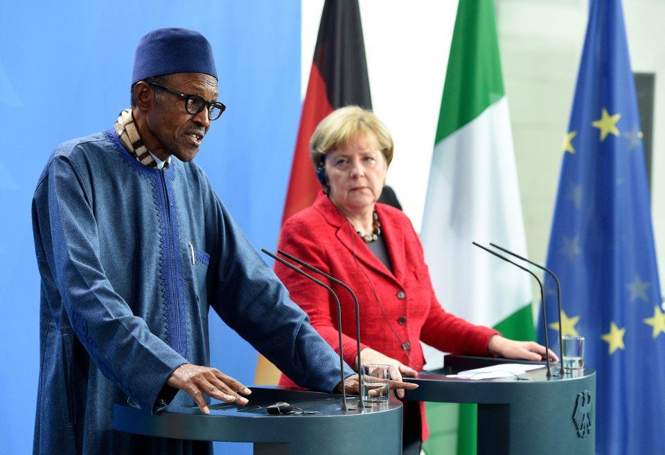 Angela Merkel and Buhari